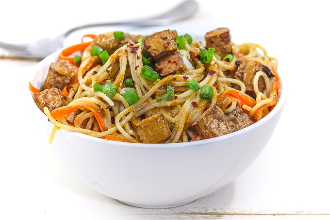 peanut noodles with tofu