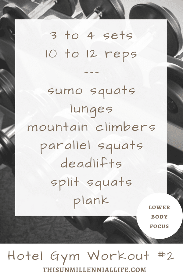 Getting in a workout while taking a road trip with family isn't always easy. But with a few simple circuits and a few free weights if available, a good hotel workout it can be done.