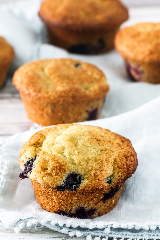 Blueberry Muffins Made with Kefir