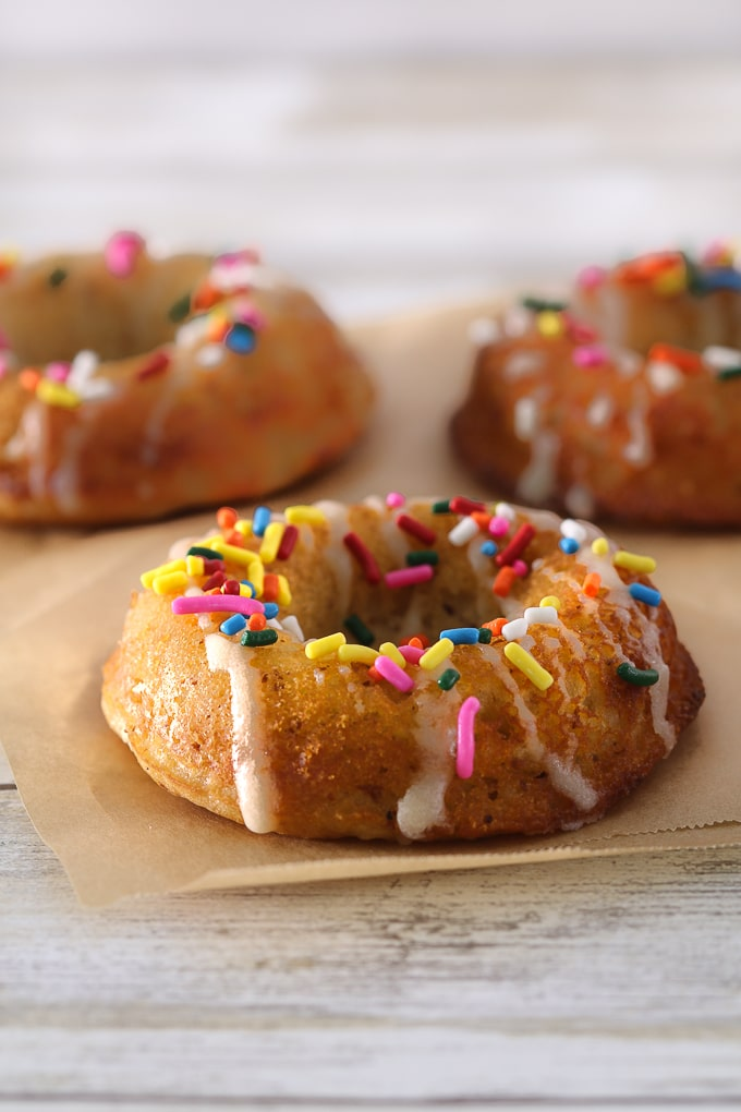 gluten free donut with sprinkles