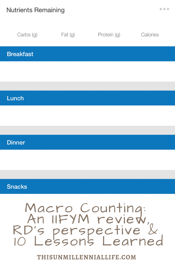 Macro Counting - An IIFYM review, A Dietitian's Perspective