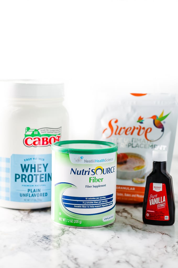 ingredients for homemade high-fiber protein recipe