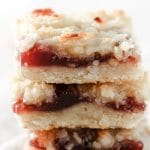 gluten free raspberry coconut bars