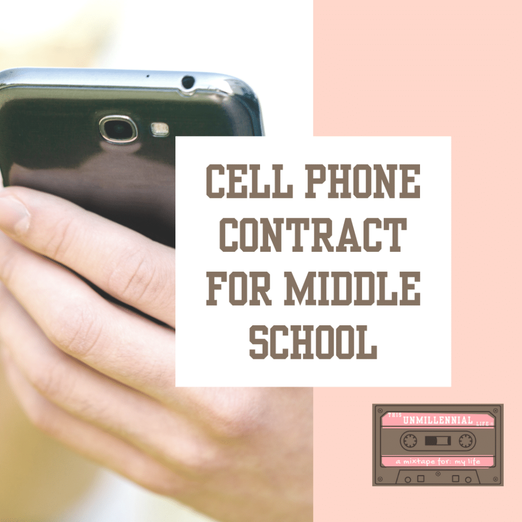 FREE customizable Cell Phone Contract for Middle School (with Social Media Addendum) - Appropriate for middle school and high school