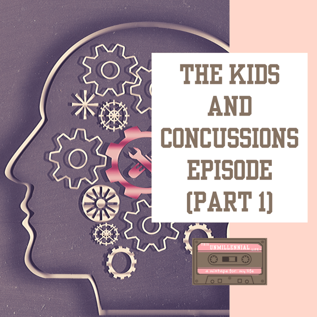 podcast cover art about kids and concussions
