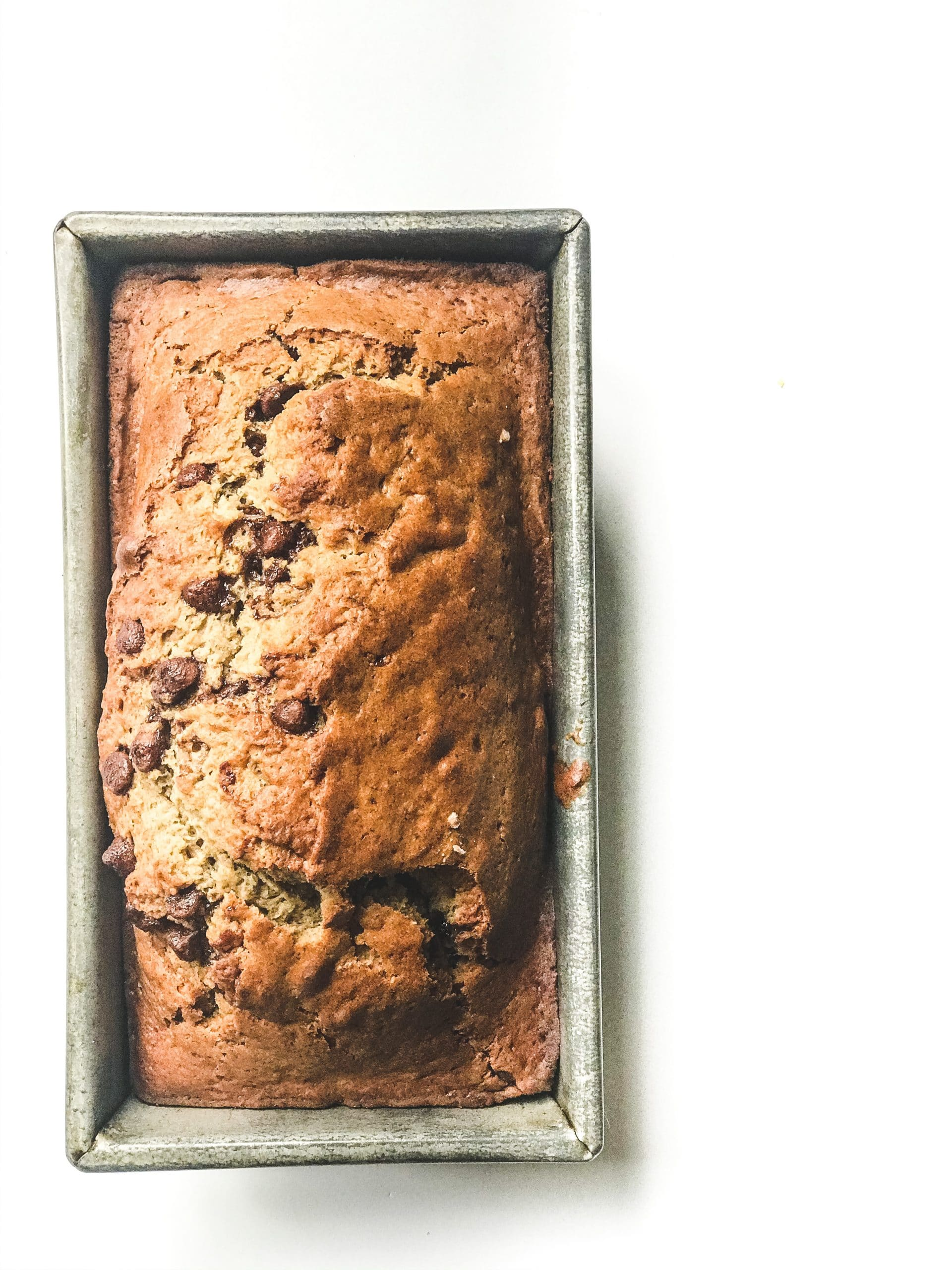 sourdough discard banana bread with chocolate chips