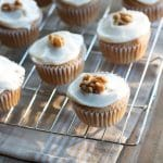 Greek yogurt frosting on cupcakes
