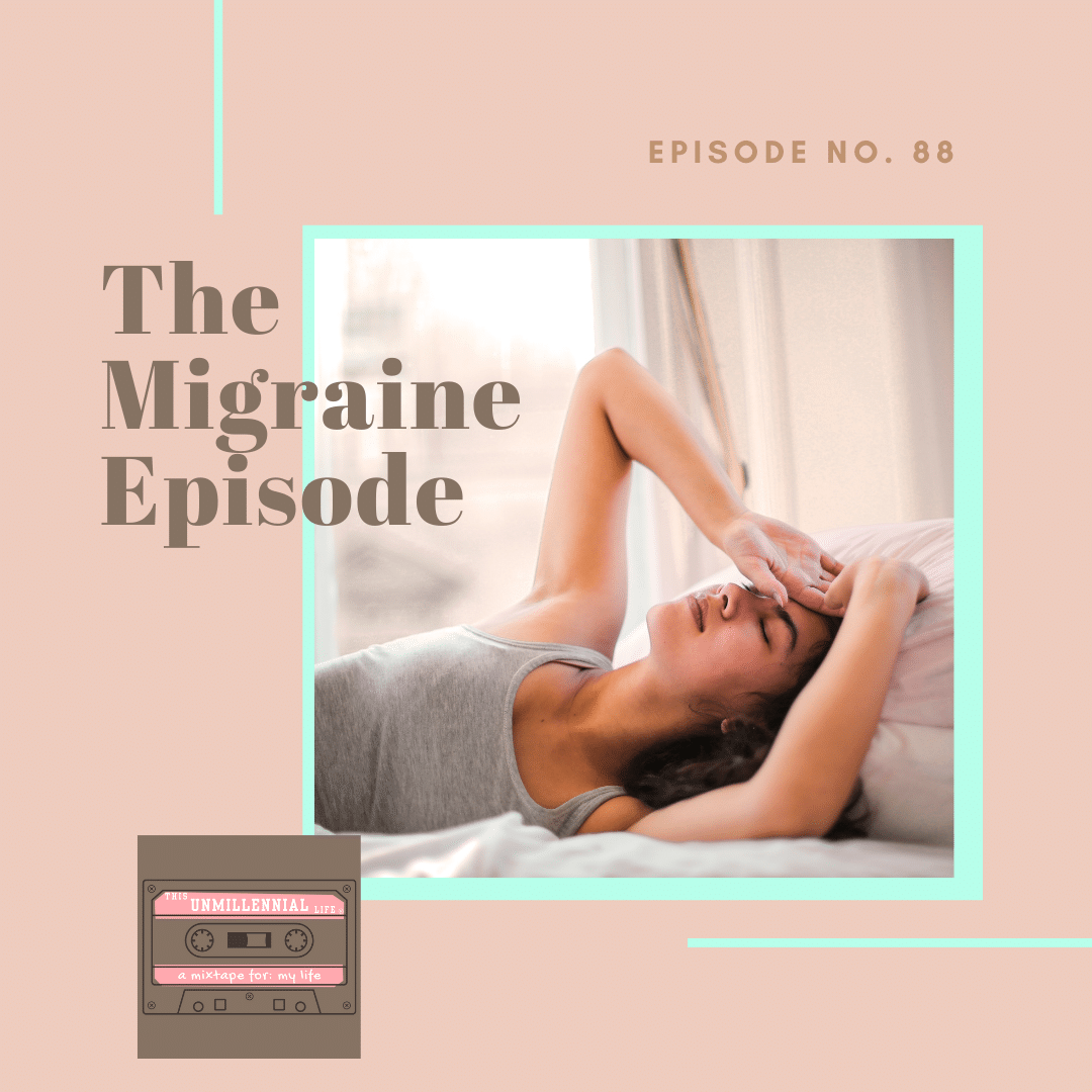 podcast cover artwork - episode on migraines