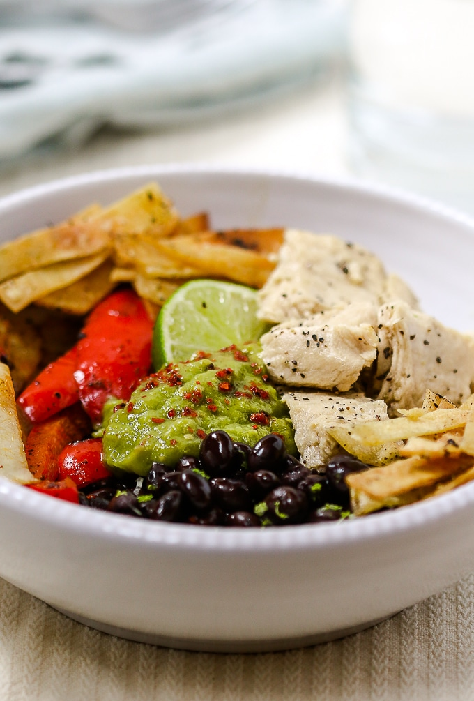 plant based fajita bowls